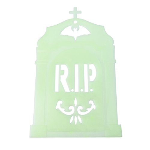 AISme Halloween Props Luminous Gravestone Wall Stickers Party Glow Hanging Decorations