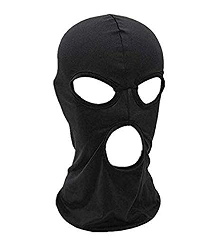 (WYSUMMER Balaclava Face Mask,Women Men Thin Lycra Three Holes Full Face Mask for Motorcycle Bike Hunting Cycling Cap Ski (Black))