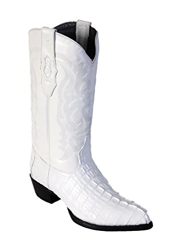 Altos Men's White Boots J Toe Western Tail Genuine Skin Caiman Los Leather pwHqCp