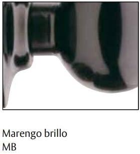 ECOSPAIN Pomo de Puerta de Bola con Acabado Marengo Brillo Tesa 290360 MB