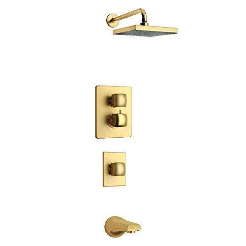 LaToscana LA-OPTION5OK Lady Thermostatic Valve with 3/4'' Ceramic Disc Volume Control, Matt Gold by La Toscana