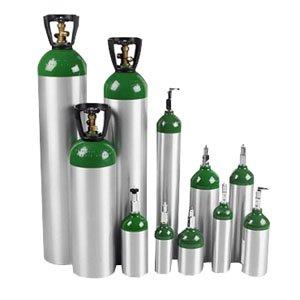 E Oxygen Cylinder with Post Valve 680L Capacity, 111 mm dia. Post Valve Cylinder