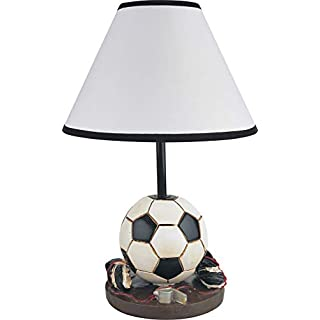 Benjara, Multicolor Benzara BM170400 Polyresin Youth Football Table Lamp