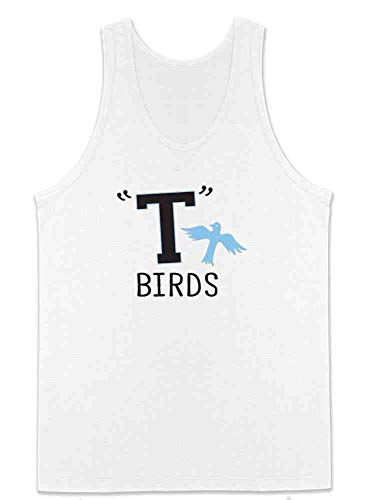 T Birds Gang Logo Costume Retro 50s 60s Costume White 2XL Mens Tank Top]()