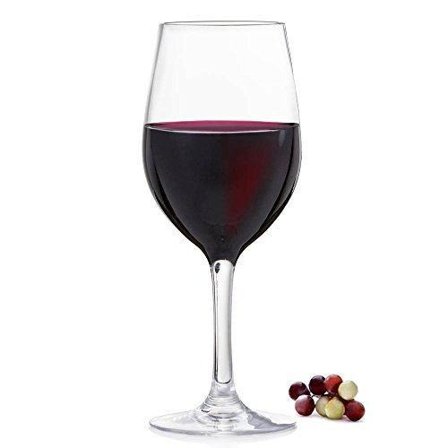Red Wine Glass - Great for Home Staging - Drink Props - Gift for Wine Lovers - Fake ()
