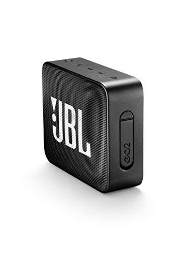 JBL GO 2 Portable Waterproof Bluetooth Speaker (Midnight Black)