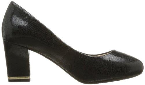 V77439 black Tacón Mujer Cuero Para Pump schwarz De Rockport Black Sto7h75 Zapatos Negro Plain vOSqI1T