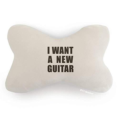 DIYthinker I Want A New Guitar Car Neck Pillow Headrest Support Cushion Pad