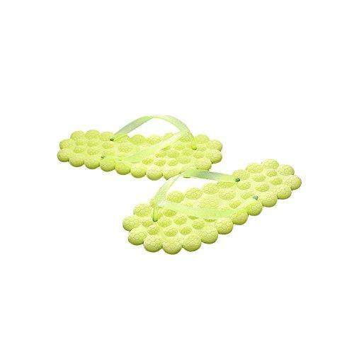 Tellw Donna Estate Pantofole Cool Creativo Moda Pantofole Pantofole Colore Piatto Fondo Femminile Spiaggia Fresca Pantofole Giallo