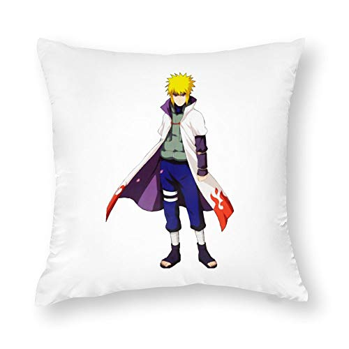 BonanzaPro Naruto Shippuden Pillowcases, Naruto Yondaime 4th Hokage Cosplay Costume Clipart Decorative Cotton Anime Pillow Coverfor Sofa Home Bedroom Car,Single-Sided Pattern, 22