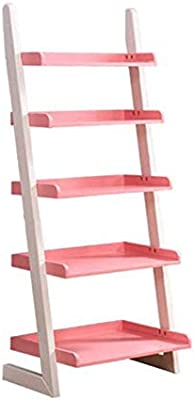 Jcnfa-Estante Estantería De Escalera Moderna Hecho De Madera Estante De Pared Organizador De Estantes para CDs, Discos Libros Home Office Deco (Color : Rosado, Tamaño : 23.81 * 15.55 * 55.11in): Amazon.es: Hogar