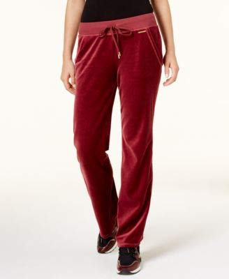 Michael Michael Kors Womens Pull-On Wide Leg Sweatpants Red S