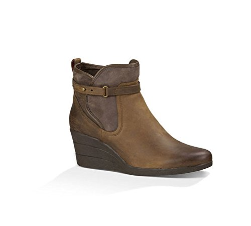 UGG Women's Emalie Boot, Stout Leather, 10 B - Medium - Ugg Boots Wedges Women