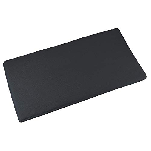 DALUZ Non-Slip Memory Foam Black Bathroom Rug(24x 16) Thick, Extra Soft and Comfortable Bath mat,Machine Washable & Quick-Drying Bathroom Carpet