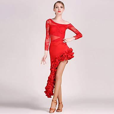 値引きする ラテンダンス衣装レディーストレーニングパフォーマンスレースチュールドレープ長袖トップスカート Red B07P9P144T B07P9P144T XXL|Red Red XXL XXL, ヒタチオオミヤシ:d1036f46 --- a0267596.xsph.ru