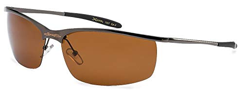 X Loop Polarized Driving Sunglasses XP3 Gunmetal - Lens Bronze Shades Sunglass