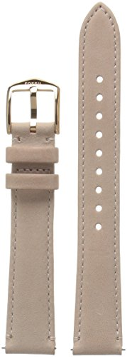 Fossil Women's S161054 STRAP BAR - LADIES Analog Display Beige - Leather Fossil Band Watch