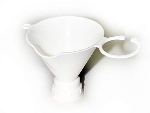 Gadjit Seed & Feed Funnel (Pack of 2) -- Twists onto an Empty Plastic Soda Bottle, Can be used for Filling a Soda Bottle with Bird Seed or with Liquids (White) Get Ready for Spring Bird Feeding
