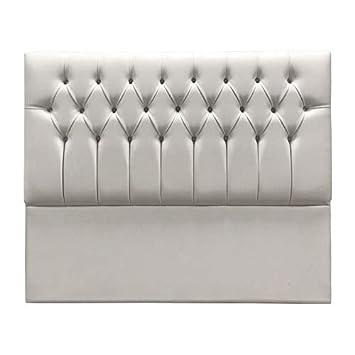 SUENOSZZZ- Cabecero Copenhague tapizado en Polipiel con Capitone Real. Color Blanco (Camas 80 cm) Medida: 90 x 70cm.