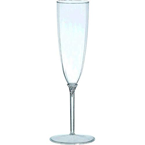 Amscan Clear Premium Quality Boxed Champagne Flutes | 5 oz. | Party Supply | 96 ct. (Boxed Champagne)
