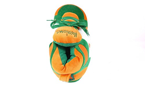 Miami Slippers Happy LICENSED and Hurricanes NCAA OFFICIALLY Feet College Sneaker Womens Men's AqwvUA