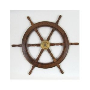 30 in. Wooden Ship Wheel