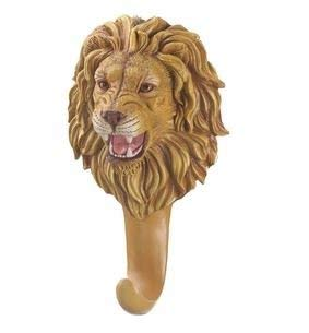 SKB Family Wall Ferocious Lion Hook Kitchen Decorative Mounted Coat New Animal Polyresin Room Head Bust Decor Entry Bed
