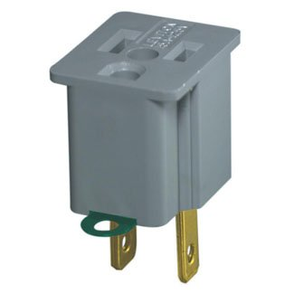 Leviton C30-00274-2 2 Pack Gray Single Tap Plug-In Outlet - C30 Single