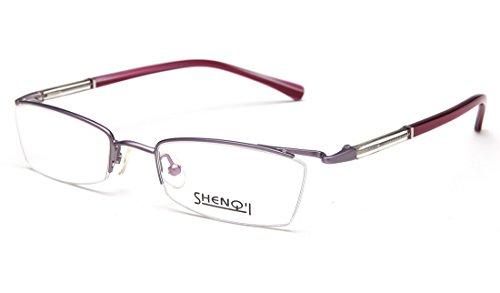 Laura Fairy Women's/ladies' Stainless Steel Semi Rimless Eyeglasses - Luxury Online Eyeglasses