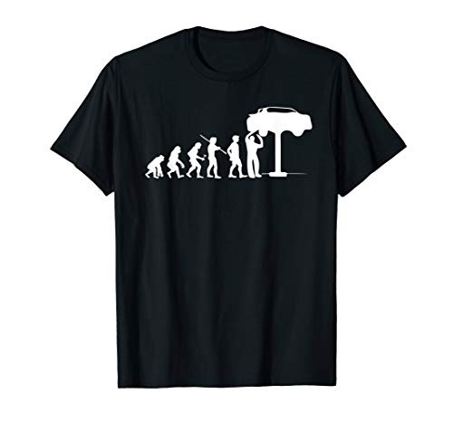 Evolution Mechanic Funny T-shirt Automotive Technician Gift