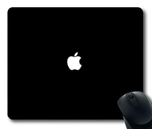 1 opinioni per Custom Gaming Mouse pad with Simple Apple logo Black minimal non-slip neoprene