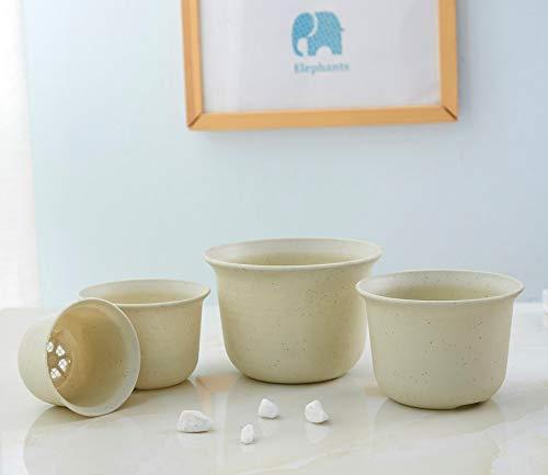 white marble flower pot - 3