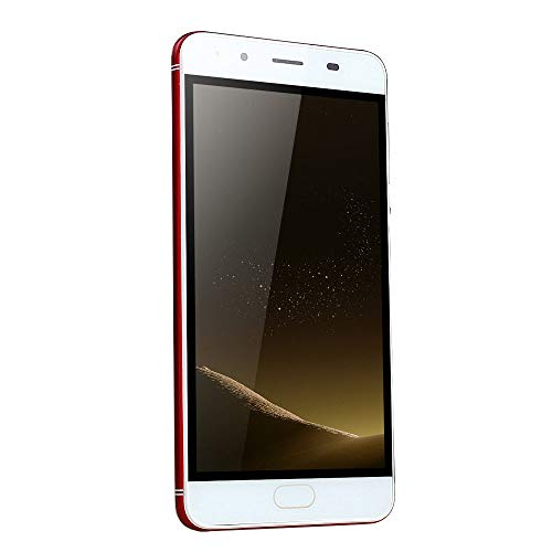 Smartphone Unlocked Cell Phones 5.0''Ultrathin Android 5.1Quad-Core 512MB+512MB GSM WiFi Dual Smart Phone (1 PC, Red) (Screen Cell Touch Phone)