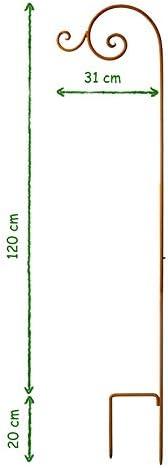 Laternenstab Rost 140 cm Ampelhalter Gartendeko Edelrost Beetstecker