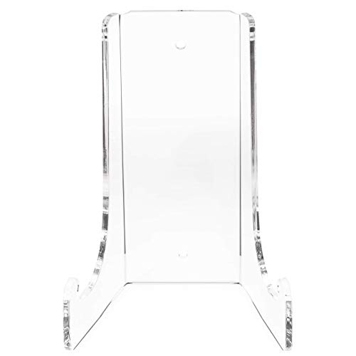 Clear Choice Double-Bend Acrylic Easel Stand 15 H |Table top or Wall Mount, Display, Flat Plates, Photos, Place Cards, use for Weddings, Funerals or Birthdays | Clear (H 15'' x W 10 1/4'' x D 8 3/4'')