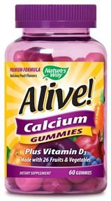 Chemin de la nature, Alive! Gummies de calcium, 60 Gummies