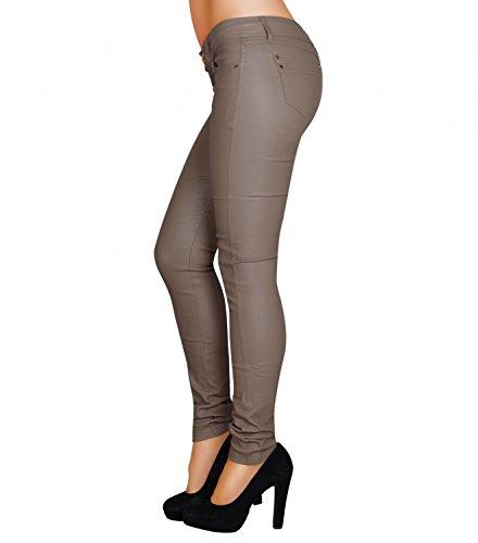 Danaest - Vaqueros - skinny - Básico - para mujer Beige