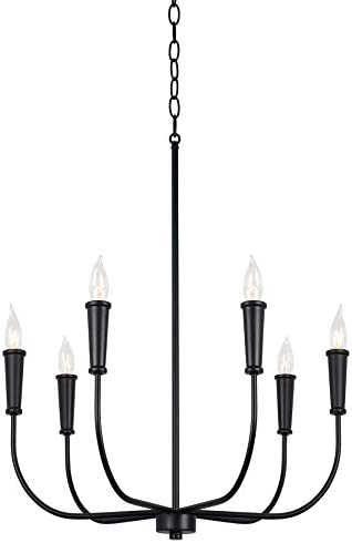 Kira Home Beaux 24″ 6-Light Modern Chandelier Curved Arm