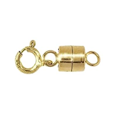 uGems Magnetic Clasp 14k 4.4mm Gold Converter for Necklaces Closed Loops Strong Solid 14kt Tiny (Qty=1) by uGems
