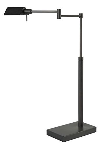 SH lighting 31188T-BK LED Table Lamp with Adjustable Arm and Height, 5'' x 9'' x 18'', Oil Rubbed Bronze