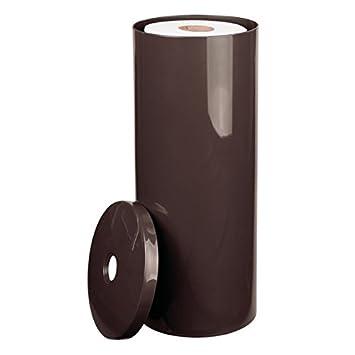 MDesign Moderner Papierrollenhalter U2013 Toilettenpapierhalter Stehend Fürs  Badezimmer U2013 Dezenter Klopapierhalter Mit Deckel Aus Kunststoff U2013