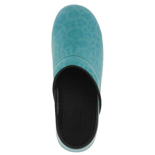 Sanita Dames Originele Patches Limited Edition Klompen Lichtblauw Leer