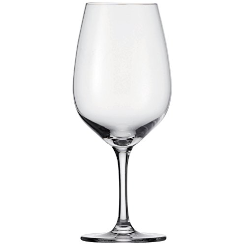 D&V Valore Lead Free, Break-Resistant, European Crystal Glass, Bordeaux, Mature Full Bodied Red Wine Glass, 20.6 Ounce, Set of 6