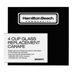 HAMILTON BEACH 88085C Replacement Carafe 4 Cup Glass Coffee