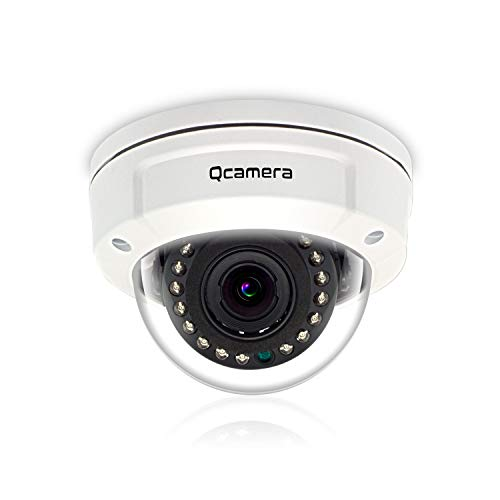 Q-camera Dome Security Camera 1080P 4 in 1 TVI/CVI/AHD/CVBS 1/2.7″ Sensor 2.8-12mm Varifocal Lens Vandal-Proof 45ft 15 LEDs IR-Cut Night Vision Home Surveillance System Camera for Outdoor Indoor