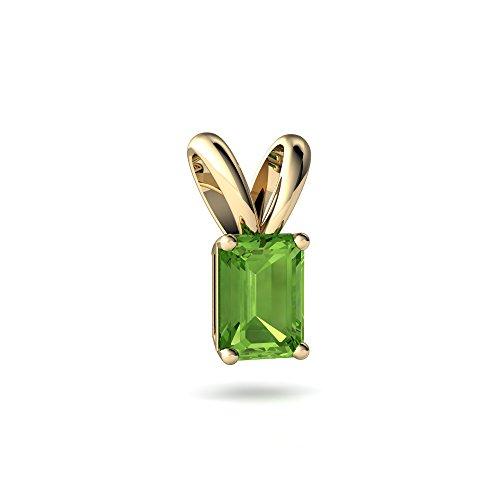 Emerald Cut Solitaire Pendant - 2