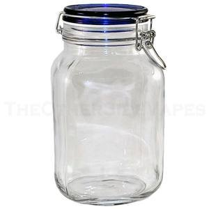 Amazon com : X-Large Wire Bale Glass Jar with Cobalt Blue