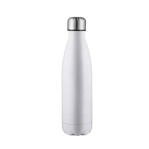 Stainless Steel Water Bottle, Anxinke Double Walled Insulated Stainless Steel Sport Bottle, BPA-Free Leak-Proof Portable Vacuum Thermos For Travel, Hiking, Outdoor Activities (White, 750ML)