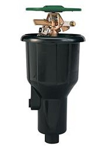 Orbit 55034 Sprinkler System Satellite Brass 2-1/2-Inch Pop-Up Impact Canister with 25 to 45 -Foot Coverage ()