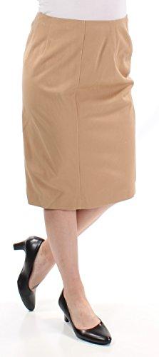 Lauren Ralph Lauren Womens Twill Signature Pencil Skirt Tan (Cotton Twill Pencil Skirt)